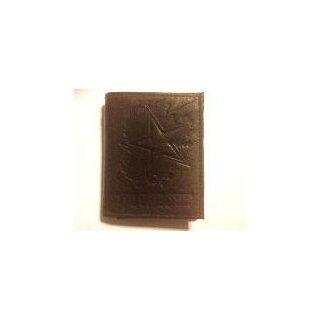 Dallas Cowboys Chocolate Brown Leather Embossed Trifold