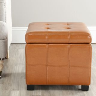 Broadway Saddle Leather Tufted Storage Ottoman Today $110.96 4.2 (12