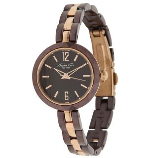 Kenneth Cole New York Womens Brown/ Rose Goldtone Steel Watch