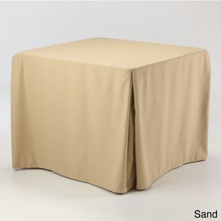 Macel & Company Eva Basic 34x34 inch Square Fitted Tablecloth