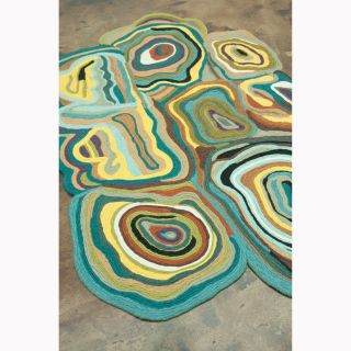 Flat Weave Zoey Peacock Wool Rug (76 x 96) Today $747.99 Sale $673
