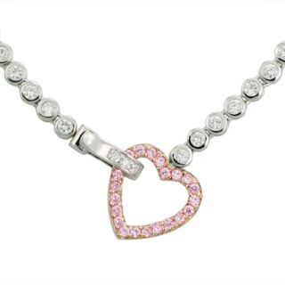 Charles Winston Heartbeat CZ Necklace