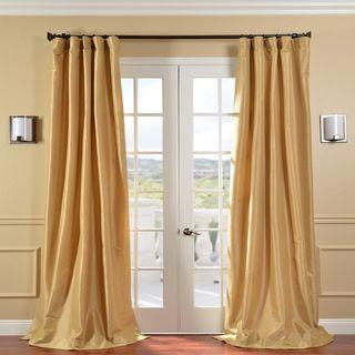 Honey Faux Silk Taffeta 120 inch Curtain Panel