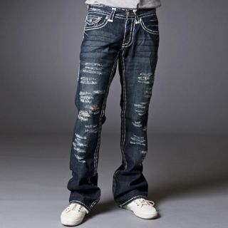 Laguna Beach Jean Company Mens Newport Beach Destroyed Denim