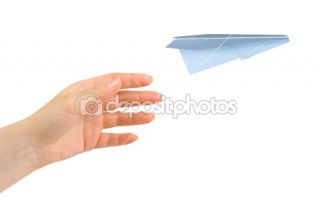Hand and flying money plane  Stock Photo © Nikolai Sorokin #1180588