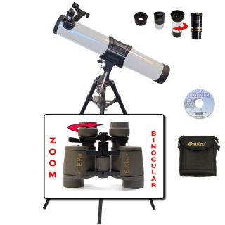 Galileo 1100mm x 135mm Reflector Telescope/ 7 15x35mm Zoom Binocular