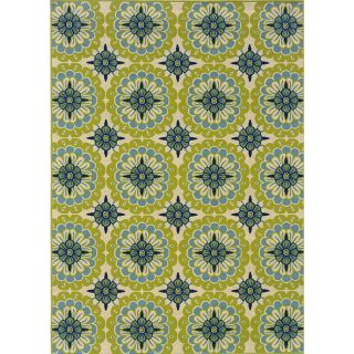 Green/Ivory Outdoor Area Rug (310 x 56)