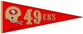 San Francisco 49Ers Red Throwback Wool Pennant Sports