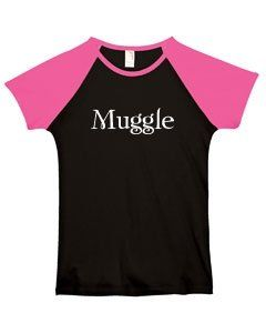 MUGGLE on Ladies Fitted Cap Sleeve Baseball T Shirt