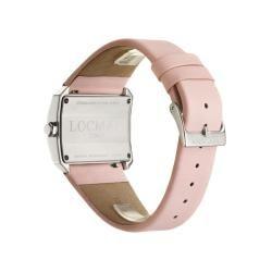 Locman Womens Glamour Stainless Steel Pink Satin Diamond Watch
