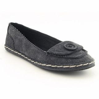 Rocket Dog Womens Whirl Smoke Black/Washed Corduroy Cotton Flats
