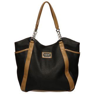Nine West Line Up Black/ Vachetta Tote Bag