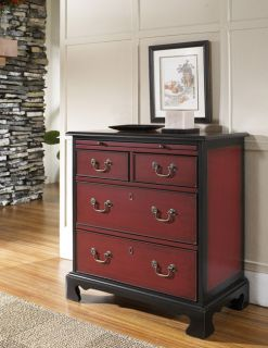 Hand painted Black Ruby Accent Chest