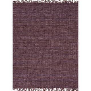 Handmade Flat weave Solid Pink/ Purple Hemp/ Jute Rug (5 x 8) Today