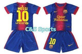 Barcelona 2012/13 Kids Messi Home Jersey Shirt & Shorts