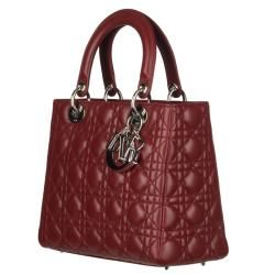 Christian Dior Lady Dior Leather Quilted Handbag