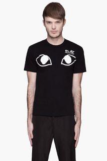 Comme Des Garçons Play  Black White Eyes Logo T shirt for men