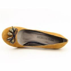 FCUK French Connection Womens Deana Beige Mustard Pump Shoes