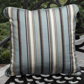 Clara Outdoor Carnegie Celeste Blue Stripe Throw Pillows Made with