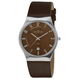 Skagen Mens Steel Brown Dial Watch