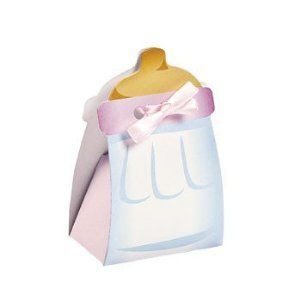 Pink Baby Bottle Treat Boxes   Party Favors & Party Bags