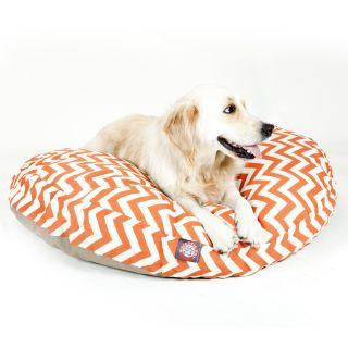 Majestic Pet Burnt Orange Zig Zag Round Pet Bed Today $59.99   $89.99
