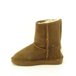 Bearpaw Emma Girls Brown Hickory/Champagne Winter Boots