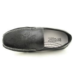 Response by Robert Wayne Mens Jet Black Loafers Shoes