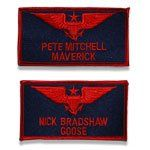 Topgun Call Sign Patches, Maverick & Goose, Topgun Badges