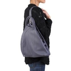 Journee Collection Womens Faux Leather Multi Pocket Backpack