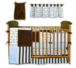 Trend Lab Blueberry 8 piece Crib Bedding Set