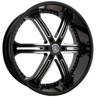 VERSANTE VE226 24x9.5 TAHOE SILVERADO Wheels Rims Black 4pc   1Set
