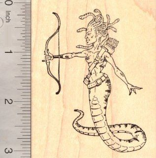 Medusa Rubber Stamp, From Greek Mythology, a Gorgon