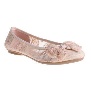 Refresh by Beston Womens Pam 08 Pink Lace Ballet Flats