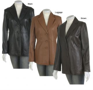 Prague Womens Nappa Lamb Leather Blazer Jacket