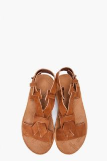 Maison Martin Margiela Tan Leather Sandals for women