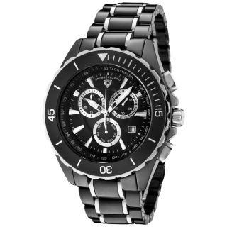 Swiss Legend Mens Identity Black Ceramic/Stainless Steel Watch
