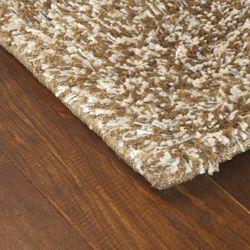 Manhattan Tweed Brown/ Ivory Shag Rug (8 Round)