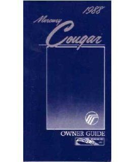 1988 Mercury Cougar Owners Manual User Guide Reference Operator Book