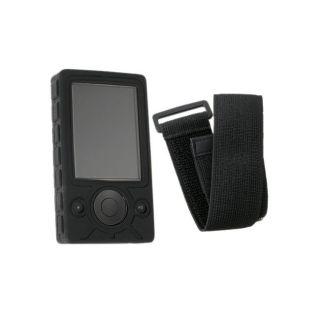 Eforcity Black Skin Case and Armband for Microsoft Zune 30GB