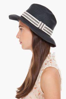 Chloe Black Fedora Paper Hat for women