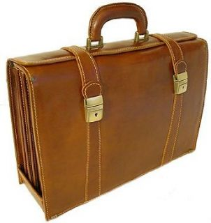 Floto Trastevere Brown Briefcase Attache Lap top Case
