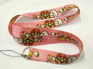 Super Mario Lanyard Key Chain Holder (Pink)    Automotive