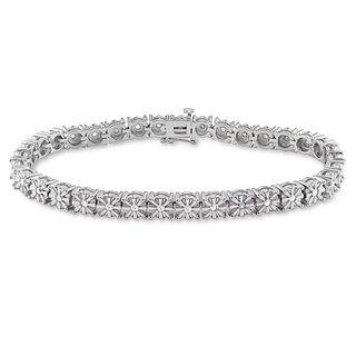 Miadora Sterling Silver 1/2ct TDW Diamond Tennis Bracelet (H I, I3