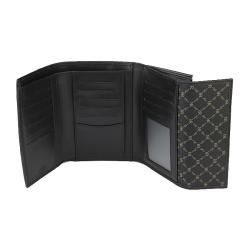 Rioni Signatrue Black Leather Multi fold Wallet