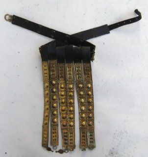 Handmade Roman Leather Apron Belt with Brass Fittings