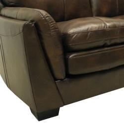 Mason Brown Italian Leather Sofa/ Chair Set
