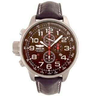 Invicta Mens Terra Military Chrono Leather Watch