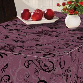 180 cm Swirl violet   Nappe ronde Fibranne BONITA. Diamètre  180