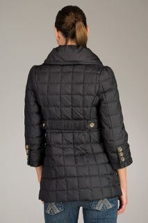 Juicy Couture  Quilted Long Black Puffer Coat for women